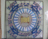 Etched & Leaded Glass Synagogue Decorative Windows
