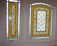 Etched & Leaded Glass Stained Glass in Multiple Windows