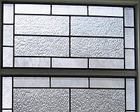 Etched & Leaded Glass Opaque Leaded Glass for Bathroom Windows