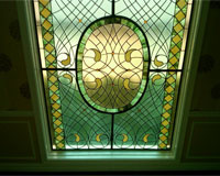 Stained Glass in Steel Frame